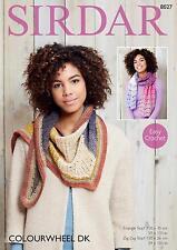 Sirdar Colourwheel Double Knitting Easy Crochet Pattern Number 8027 Scarves