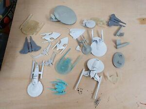 Micromachine Star Trek ships misprints great for  kit bashing