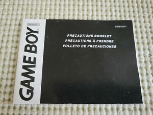 GameBoy Precautions Booklet - Authentic - Game Boy - Manual Only! (C/AGB-USA-1)