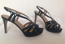 397be4ff515 Nordstrom Elie Tahari Black Patent Leather Slingback Platform Sandals Sz  39.5