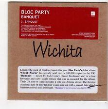 (FA478) Bloc Party, Banquet - 2004 DJ CD