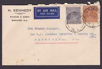 AUSTRALIA KGV 1936 5d Brown & 3d Blue ON COVER BROOME TO FREMANTLE  (LD101.3)