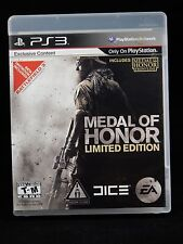 Medal of Honor Limited Edition (Sony PlayStation 3, 2010) COMPLETE