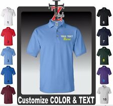 1 Custom Made Embroidered FREE LOGO Dry Blend POLO PIQUE SHIRT Embroidery Person