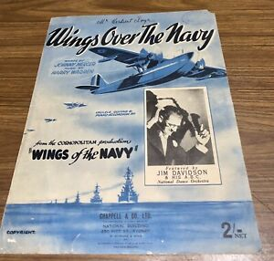 "Vintage 1938 ""WINGS OVER THE NAVY"" by Johnny Mercer & Harry Warren"