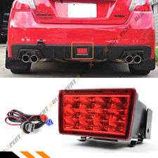FOR 11-17 SUBARU WRX STi RED REAR BUMPER LED BRAKE LAMP W/ BRACKET + WIRING KIT