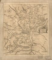 A4 Reprint of American Cities Towns States Map Philadelphia
