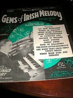 SHEET MUSIC-GEMS OF IRISH MELODY CLAUDE FERRING 1938 12 SONGS 8 PAGES