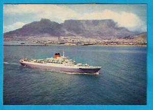 Original Real Photo Postcard Union Castle Line WINDSOR CASTLE Cape Town