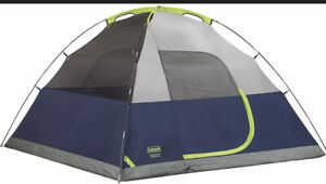 No RainFly! Coleman Sundome Tent, Navy/Grey, 2-person.  Comes as pictured above