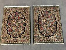 2 x echte kerman/kirman Orientteppiche Perser Top sehr fein! circa 72x53 cm NEU!