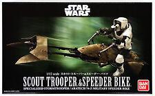 Bandai Star Wars Scout Trooper & Speeder Bici 1/12 Scala Kit 966933