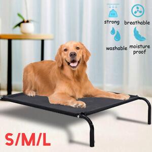 Elevated Dog Bed Lounger S/M/L Sleep Pet Cat Raised Cot Hammock Indoor Outdoor
