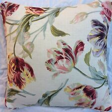 """Cushion cover laura ashley gosford cranberry 16""""( piped)"""