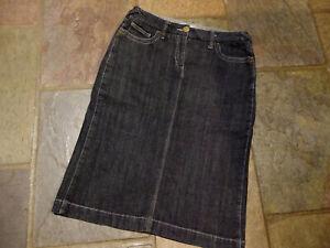 YARRA TRAIL Blackish Blue  Long Denim Skirt Size 10 Waist 79 cm Length 65 cm