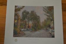 Thomas Kinkade Carmel Ocean Avenue Offset Lithograph Hand Signed w/ Kinkade COA