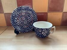 More details for vintage burleigh blue calico tea cup and saucer