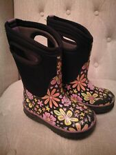 Bogs Boots Toddler Girl Size 9 Waterproof Rain Snow Flower