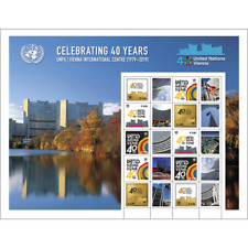 2019 ~ United Nations Personalized Sheet ~ 40Th Anniversary Vienna 1979-2019