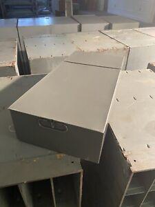SAFE DEPOSIT BOX METAL DRAWER! SAFETY BANK TRAY CASE VINTAGE GREY