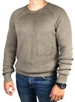 BURBERRY BRIT men's gray cotton/cashmere crew neck sweater/pullover | Size M