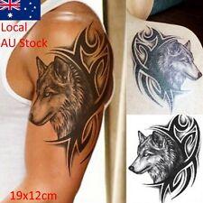 Waterproof Temporary Tattoo sticker wolf tattoo black tattoo body art big tattoo