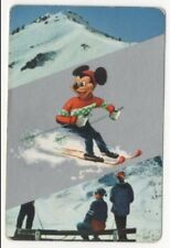 Swap Playing Cards 1 1960's Japanese Nintendo Mickey Mouse Skiing Disney A140
