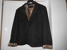 Blazer Gr. 46 schwarz Innenfutter Leopardmuster neu o. Etikett s.Bild/Beschreib