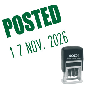 POSTED Date Stamp Small, Self-Inking Office Dater Stamps 6 colour Options
