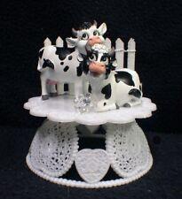 COW Wedding Cake Topper animal Country Western Barn Moo Farmer Fence Funny top