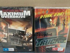 Stephen King's Maximum Overdrive/Trucks 2 DVD Set Brand New Australia