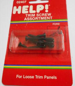 Dorman Help 02407 8 Piece Ford Lincoln Mercury Trim Screw Assortment - Black