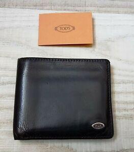 TOD'S Luxus Leather Leder Geldbörse Geldbeutel Portemonnaie Wallet UVP 300€!