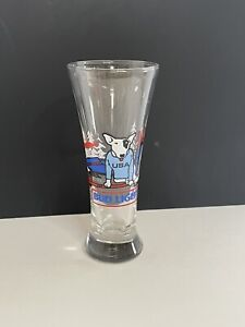 Spuds McKenzie Bud Light USA Olympic Beer Glass Pilsner USA Hockey 1987 Clean