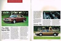 1988 Jaguar Brochure / Catalog: XJ-6,VANDEN PLAS,XJS,Convertible,S,XJ6:free ship