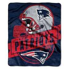 "The Northwest NFL New England Patriots Grand Stand Plush Raschel 50""x60"" Blanket"