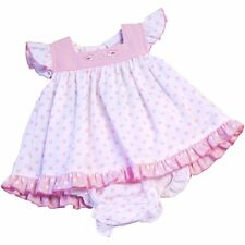 Cotton Blend Spotted Dresses (0-24 Months) for Girls