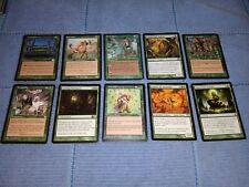 MTG Magic 10x Verde tarjetas! Green Sun's Zenith, Seshiro, Hall of Gemstone +++
