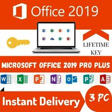 Microsoft Office 2019 Professional Plus 💥3 Users💥 Lifetime Key✅ for Windows PC