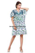 Ombre Mandala Casual Wear Plus Size Indian Kaftan Cotton Dress Bikini Wear Maxi