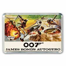 JAMES BOND 007 AUTOGYRO  AIRFIX KIT ARTWORK - JUMBO FRIDGE / LOCKER  MAGNET
