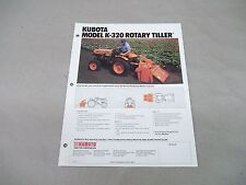 Kubota Tractor K-320 Rotary Tiller Sales Sheet with Specifications Free Shipping