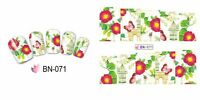 Nail Art Water Decals Stickers Transfers Wraps Butterflies Flowers Floral BN71