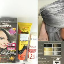 Cruset  Permanent Punk Style Hair Dye Color Cream Grey Color with Argan Oil