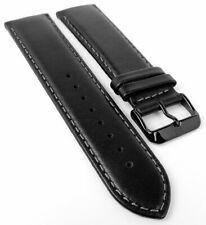 Tommy Hilfiger Repuesto 23mm Correa Reloj Cuero Banda Negro con Costura 1710295