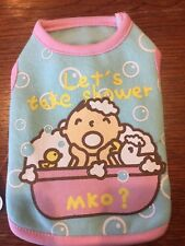 XXS BATHTIME Fleece Dog Shirt NEW! Tiny Little Dog Puppy CUTE!