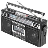 QFX(R) J-220BT QFX ReRun X Cassette Player Boombox with 4-Band Radio, MP3 Con...