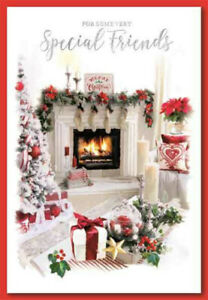 SPECIAL FRIENDS CHRISTMAS CARD ~ TRADITIONAL DESIGN ~ QUALITY CARD & NICE VERSE