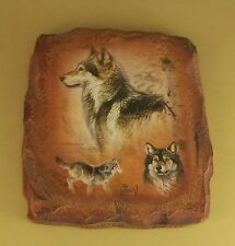 Guardians of the Earth Timberland Triumph Wolf Plate Al Agnew #6 Plaque