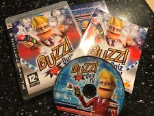 PLAYSTATION 3 PS3 BUZZER GAME BUZZ! QUIZ TV +BOX INSTRUCTION COMPLETE PAL TESTED